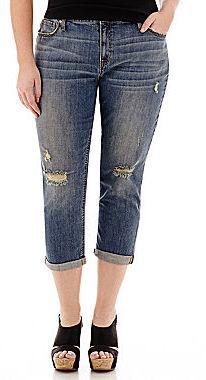 a.n.a Rolled Boyfriend Cropped Jeans - Plus