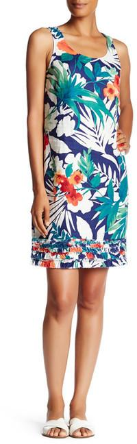 Tommy Bahama Victoria Blooms Linen Ruffle Dress