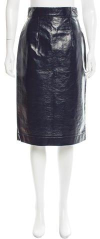 Tanya Taylor Patent Leather Pencil Skirt w/ Tags