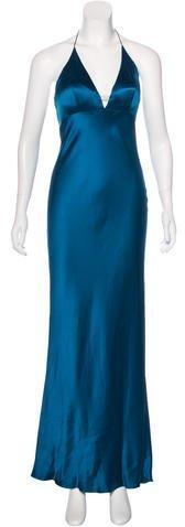 Monique Lhuillier Silk Evening Dress
