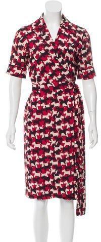 Cacharel Silk-Blend Wrap Dress