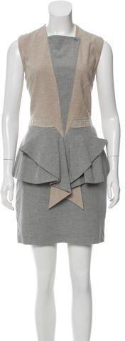 Givenchy Sleeveless Peplum Dress