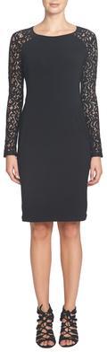 Michaela- L/S Lace Combo Jersey Dress