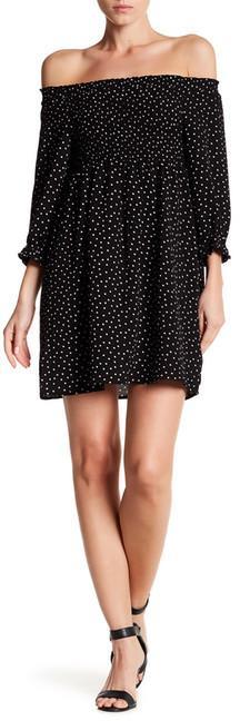 As U Wish Off-the-Shoulder Smocked Dress
