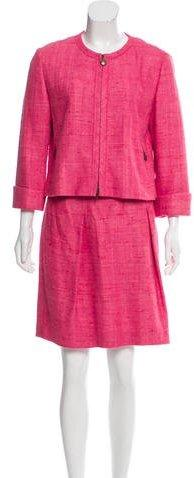 Akris Punto Tweed Skirt Suit