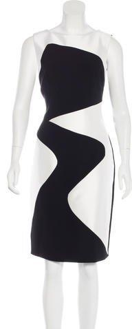 Theia Patterned Sleeveless Dress w/ Tags
