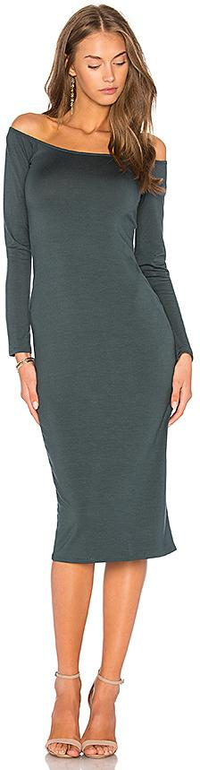 Rachel Pally Long Sleeve Jagger Dress in Dark Green