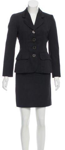 Moschino Cheap and Chic Wool Notch-Lapel Skirt Suit