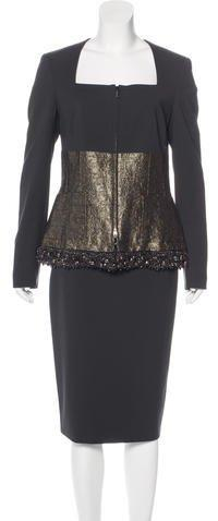Escada Embellished Skirt Suit w/ Tags