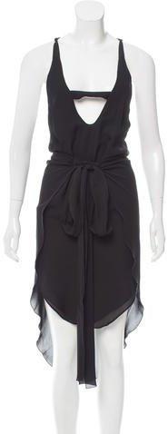 Roland Mouret Silk Cutout Dress