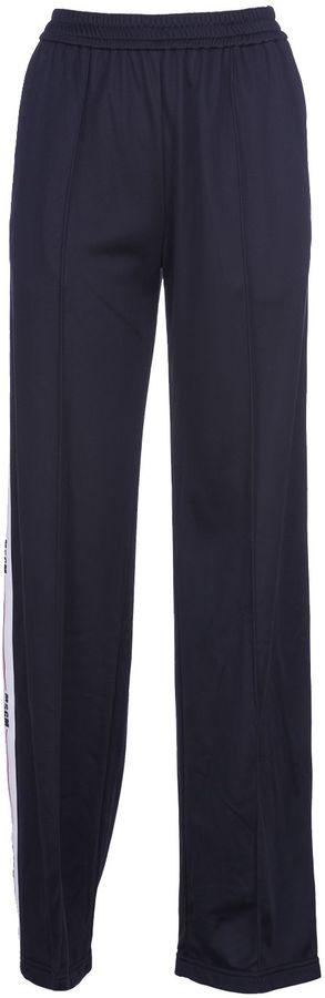 Msgm Lateral Stripes Straight Trousers