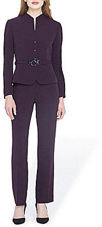 Tahari ASL Crepe Belted Pant Suit