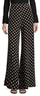 Alexis Auden Silk Polka Pants