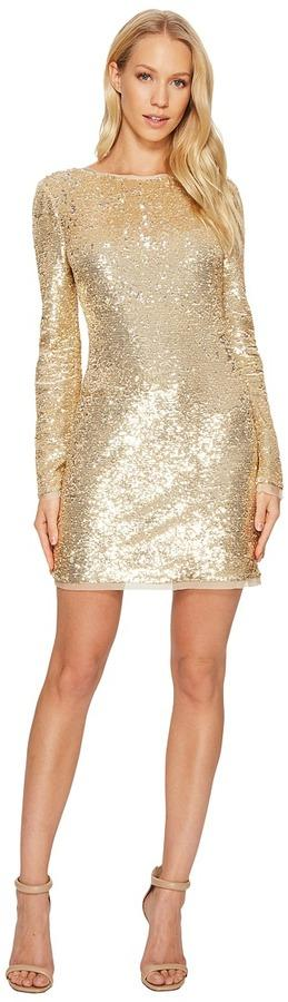 Rachel Zoe - All Over Sequin Long Sleeve Racko Dress Women's Dress