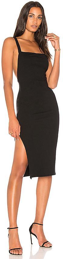 Rachel Pally Luxe Rib Low Back Dress in Black