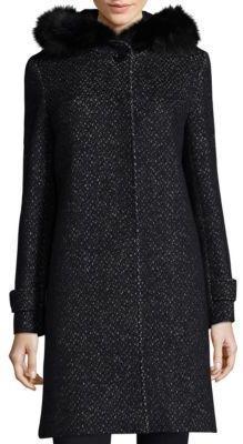 Cinzia Rocca Tweed Fox Fur Coat
