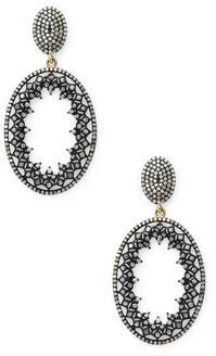 Stardust Oval Earrings
