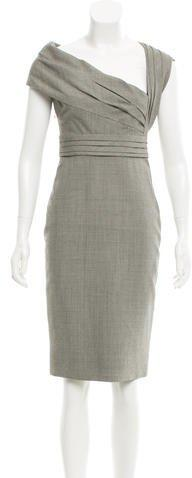 Valentino Houndstooth Wool Dress w/ Tags
