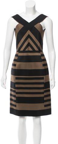 Lanvin Two-Tone Knee-Length Dress w/ Tags
