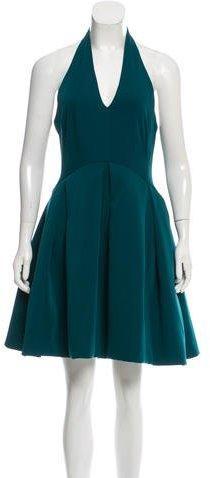 Halston Heritage Halter Mini Dress