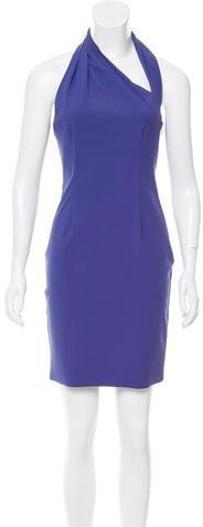 H by Halston Halter Neck Mini Dress