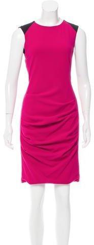 Yigal Azrouël Colorblock Knee-Length Dress
