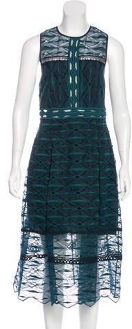 Jonathan Simkhai Sleeveless Embroidered Dress