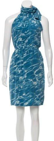 Akris Punto Printed Silk Mini Dress