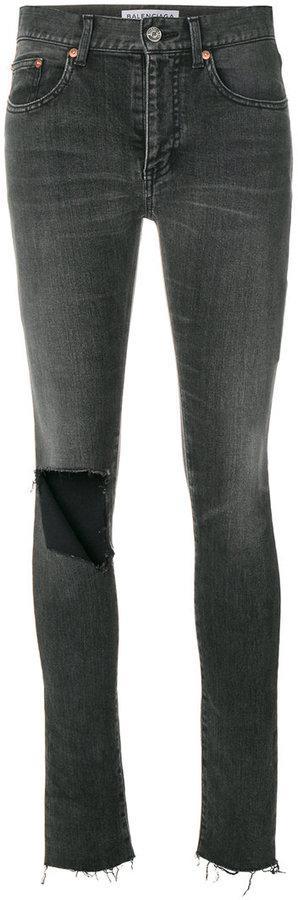 Balenciaga busted knee skinny jeans