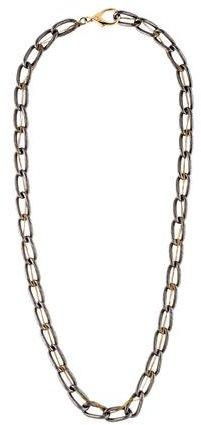 Alexis Bittar Gunmetal & Gold-Tone Link Necklace