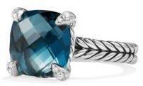 David Yurman Chatelaine Ring with Hampton Blue Topaz and Diamonds
