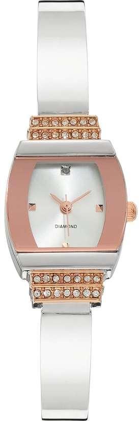 Women's Diamond Two Tone Half Bangle Watch