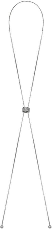 Brilliance Silver Plated Lariat Necklace with Swarovski Crystals