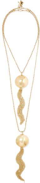 Rosantica - Milite Tasseled Gold-tone Necklace