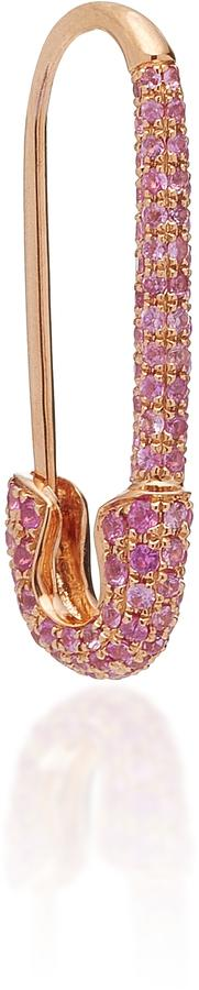 Anita Ko Safety Pin Earring with Pink Sapphire