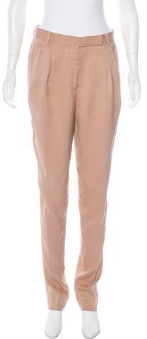 Lanvin High-Rise Straight-Leg Pants