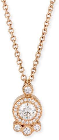 Rahaminov Diamonds Diamond Cluster Pendant Necklace in 18K Rose Gold