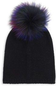 Fox Fur & Cashmere Knit Beanie