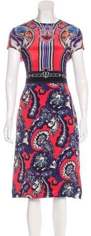Mary Katrantzou Silk Digital Print Dress