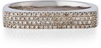 Ef Collection 14K Gold Jumbo Bar Ring with Diamonds