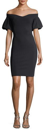 Chiara Boni La Petite Robe Guendalina Puff-Sleeve Off-the-Shoulder Dress