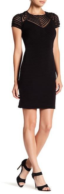 Calvin Klein Textured Sheer Detail Dress (Petite)