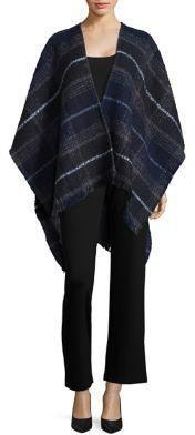 Echo Plaid Sweater Cape