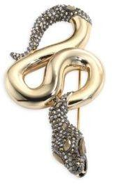 Alexis Bittar Elements Crystal Snake Pin
