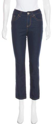 Red Valentino Mid-Rise Straight-Leg Jeans