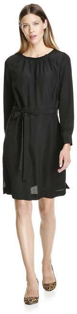 Joe Fresh Women's Pleat Neck Dress, JF Black (Size S)