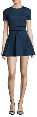 Jersey Piped Mini Dress