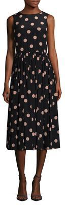 Dot Print Flared Dress