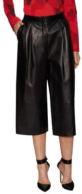 Leather Pleated Culottes