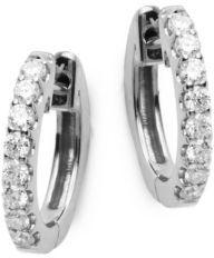 Pave Huggie Diamond Hoop Earrings